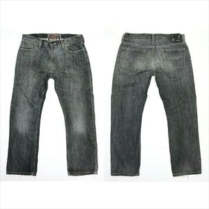 Levi's 514 Slim Straight Gray Jeans Destroyed